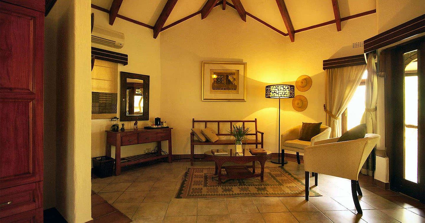 The interior of Idube Game Lodge in Sabi Sands