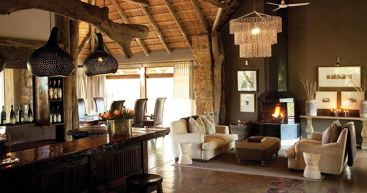 Leopard Hills lounge in Sabi Sands
