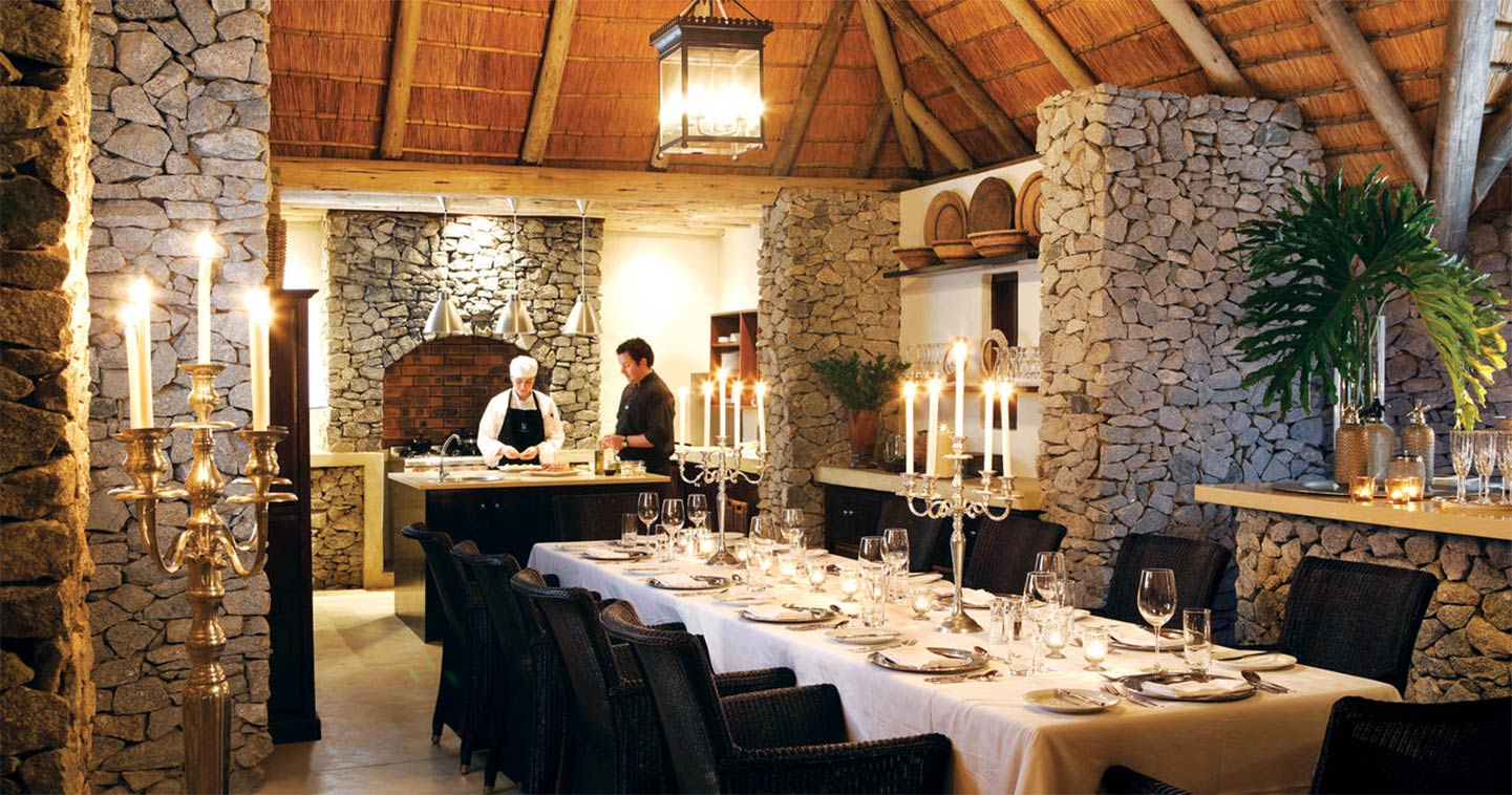 Londolozi Pioneer Camp dining are in Sabi Sands