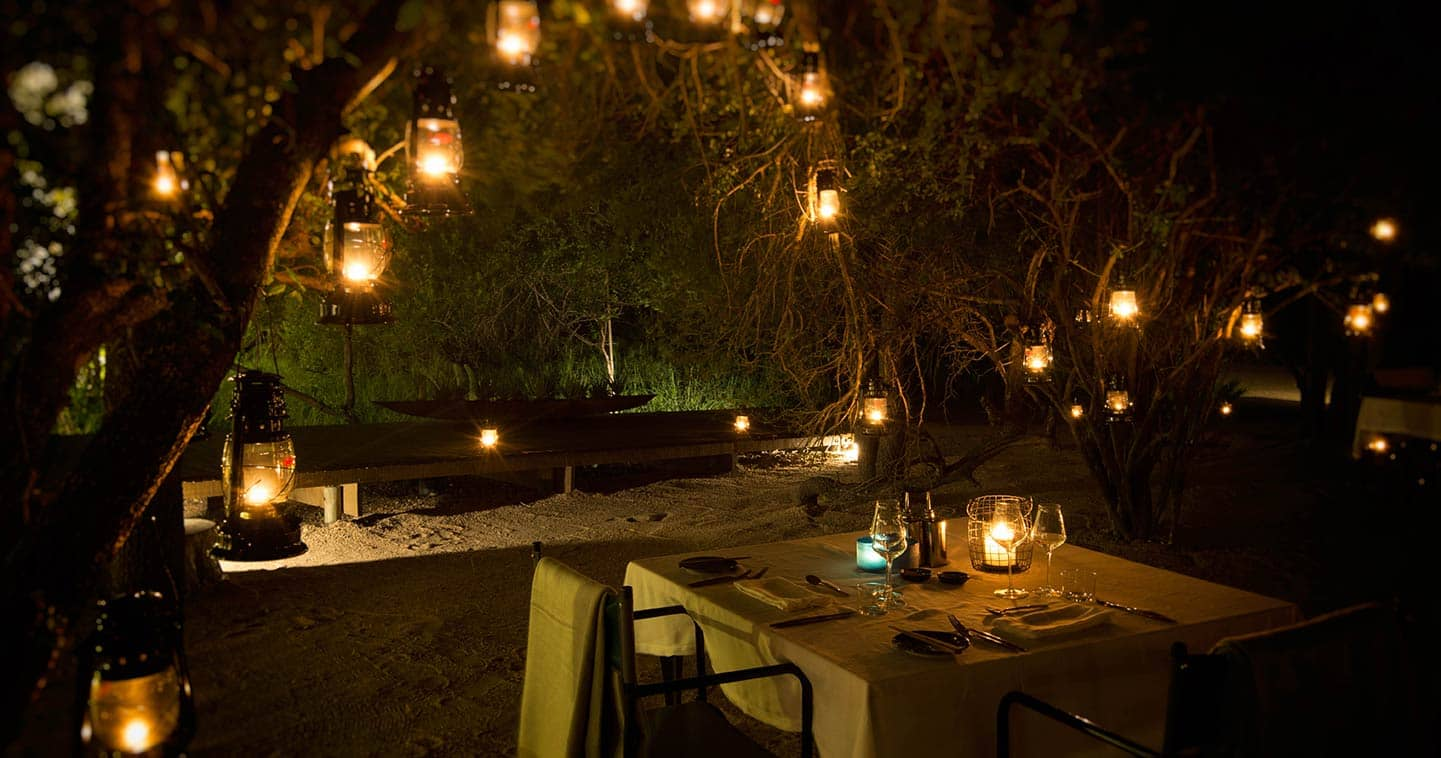 Luxury safari in Sabi Sands at Silvan - dinner