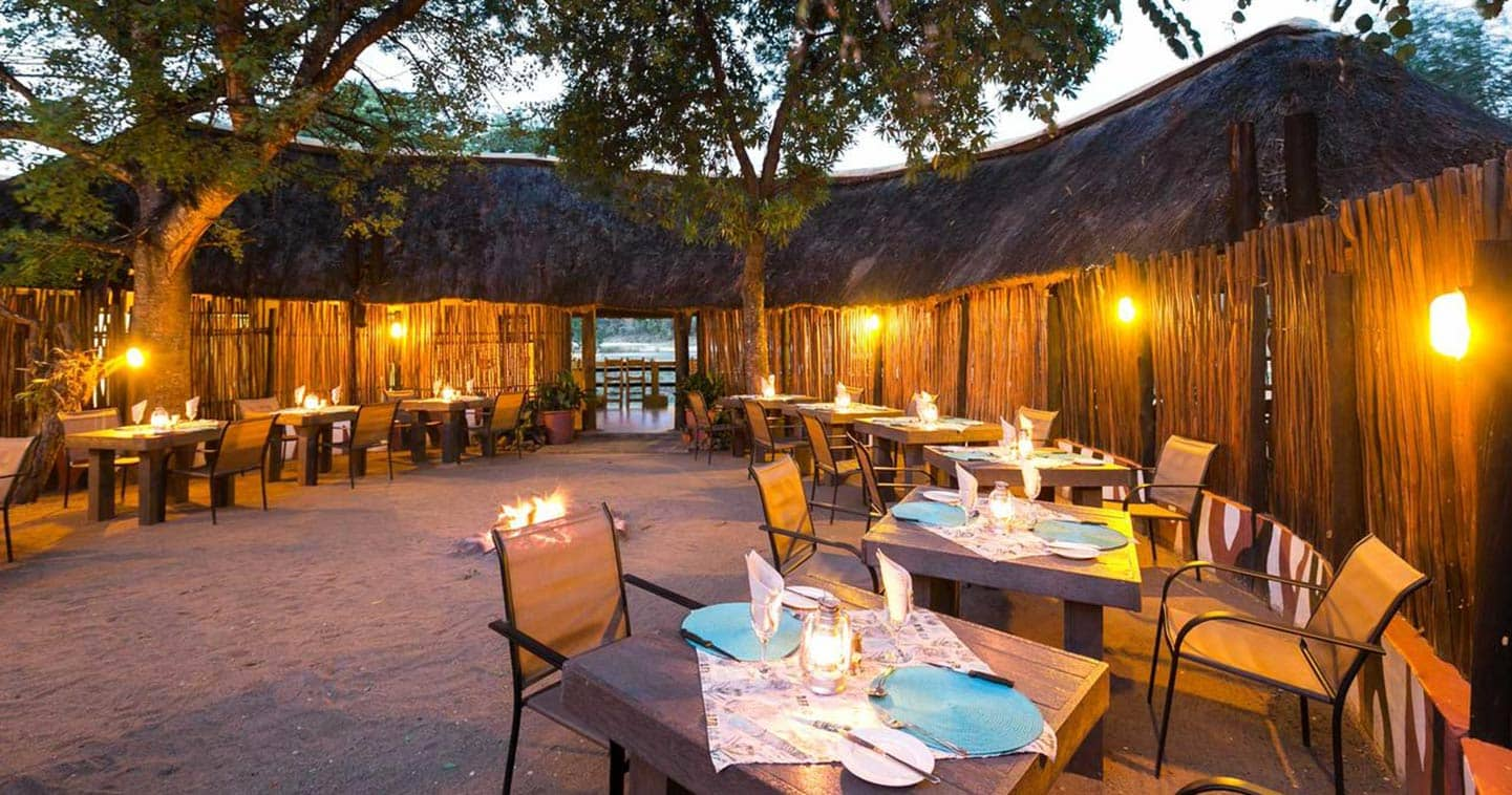 The boma at Umkumbe in Sabi Sands