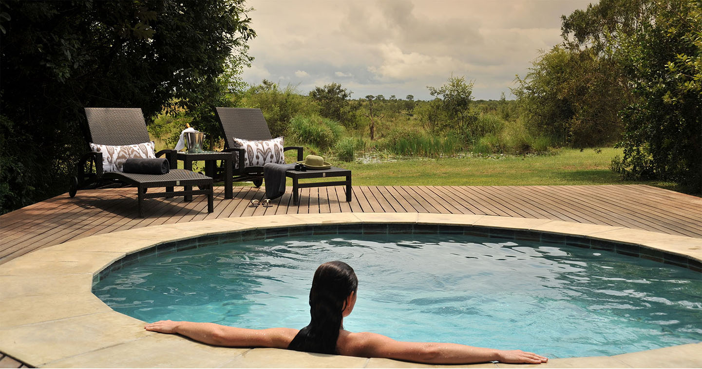 The pool at Savanna Lodge in the Sabi Sands