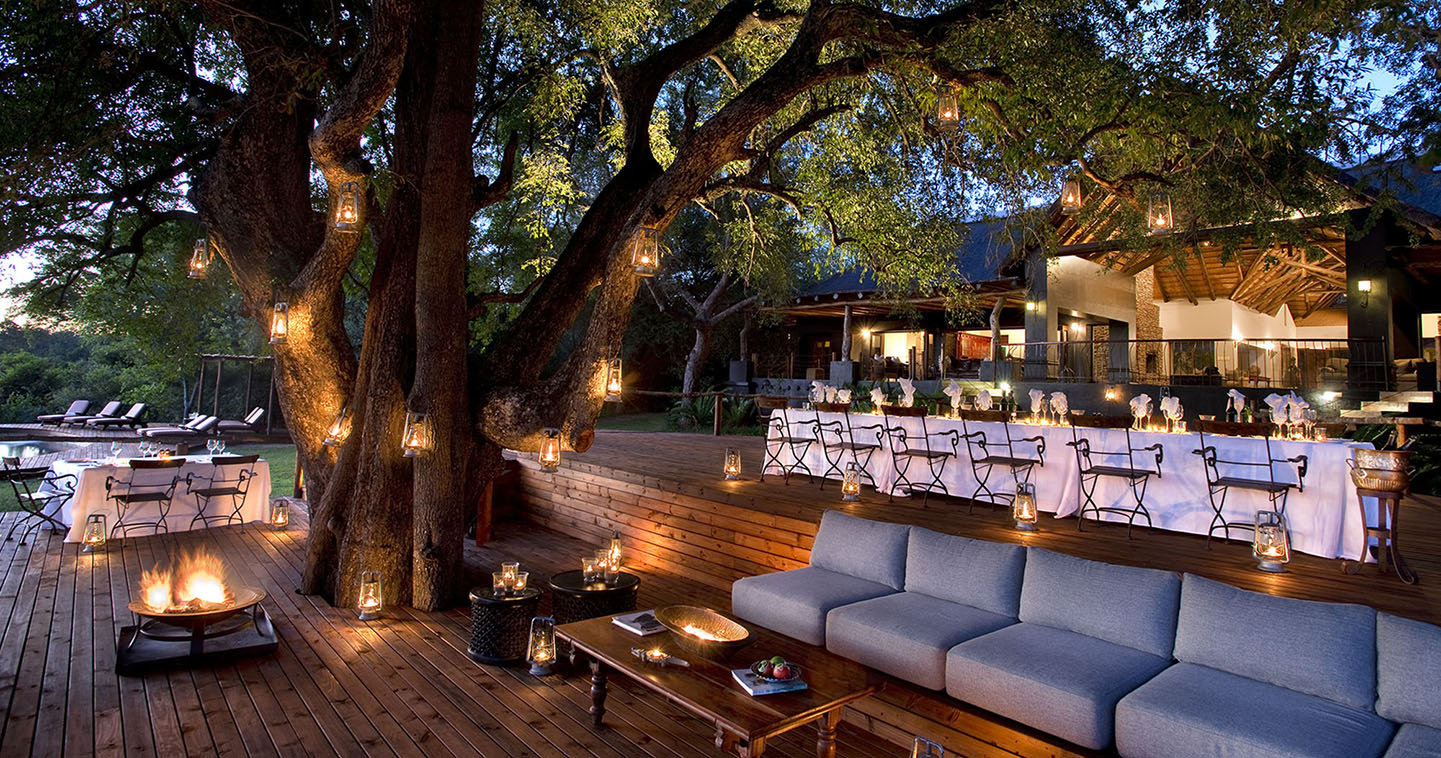 Lion Sands Tinga Lodge main deck in Sabi Sands