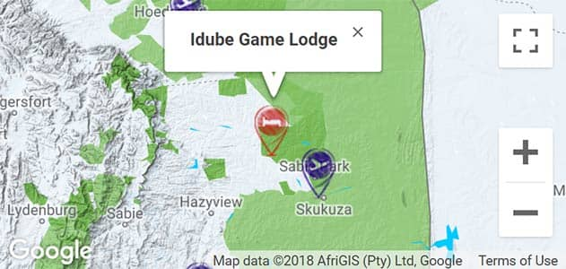 View Idube Lodge on the map in Sabi Sands