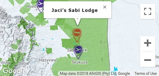 View Jaci's Sabi House on the map in Sabi Sands