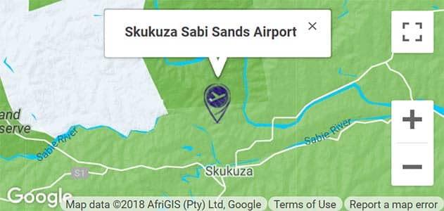 View Skukuza Airport on the map in Sabi Sands