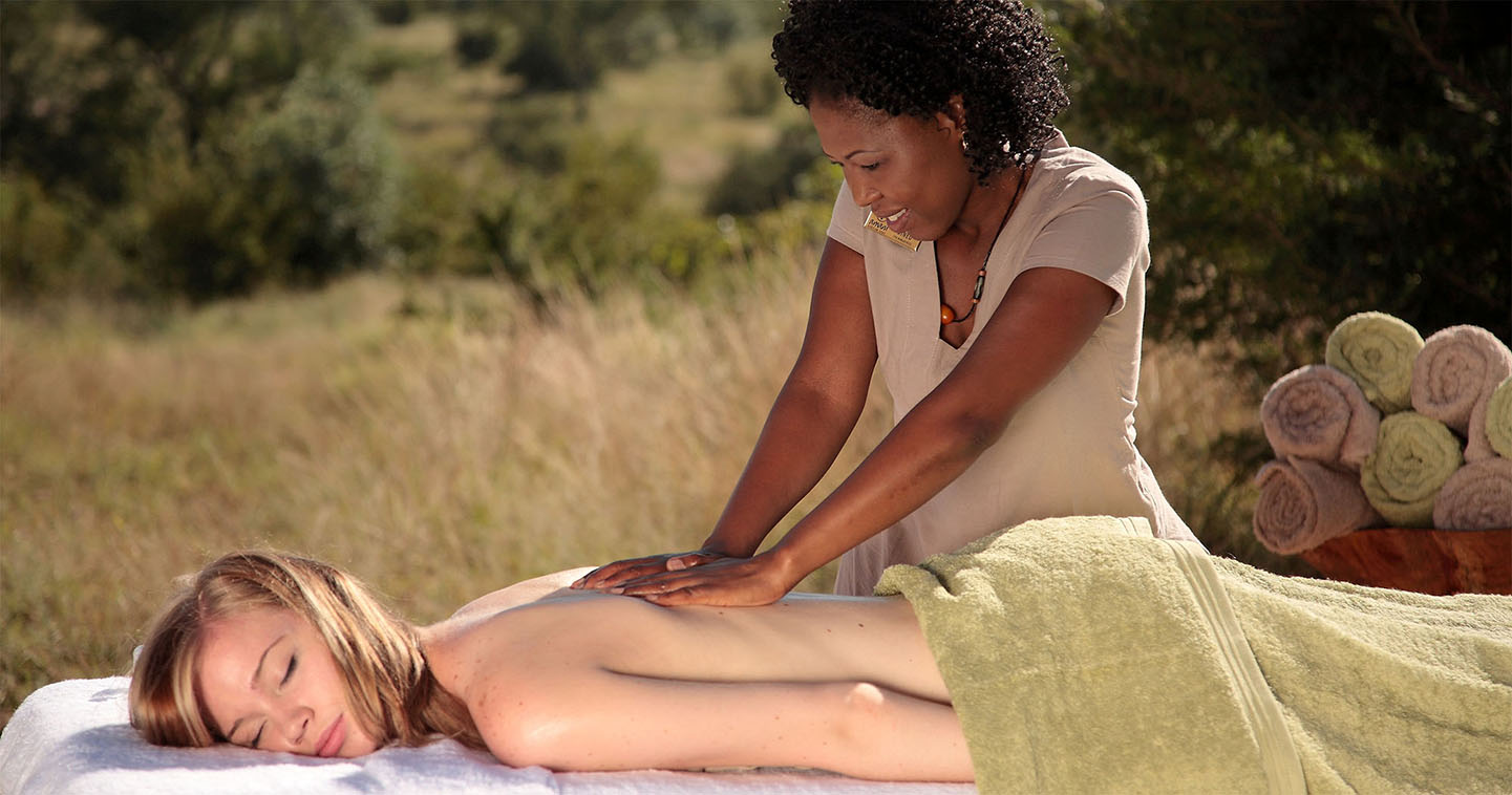 Complete relaxation at the spa in Sabi Sabi Earth Lodge