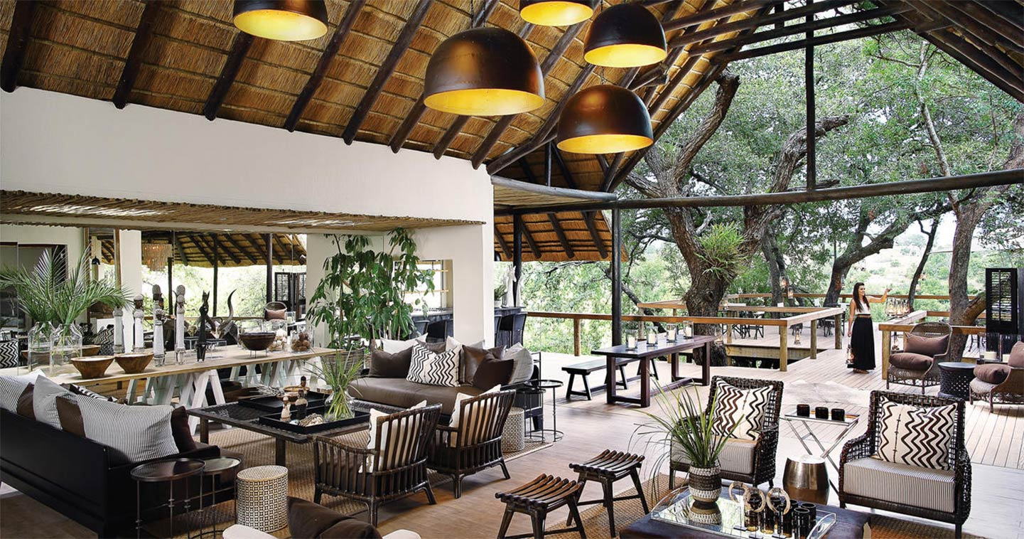 Sabi Sand Londolozi Tree Camp lounge area