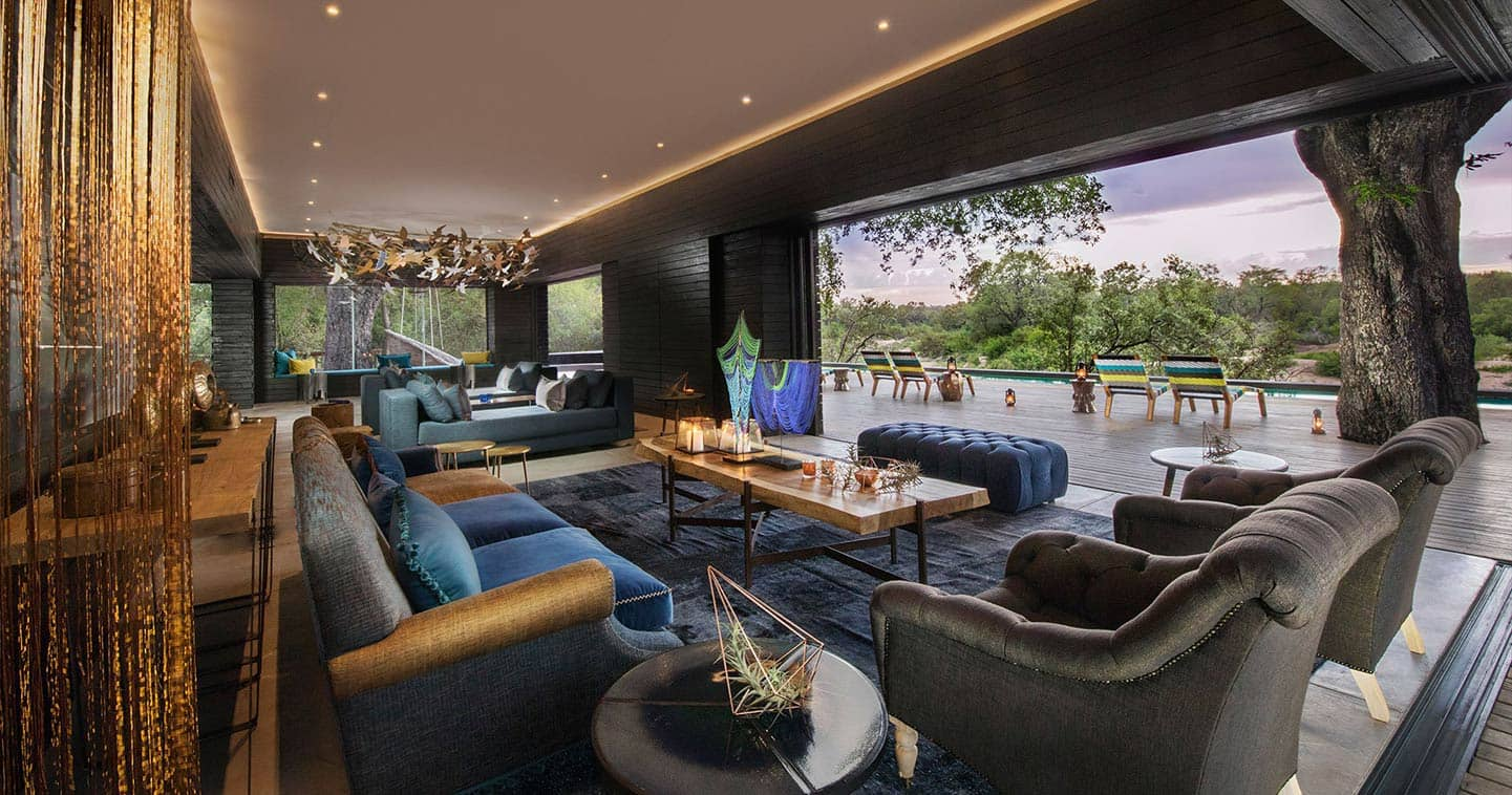 Lounge area at Silvan Safari Lodge in Sabi Sands