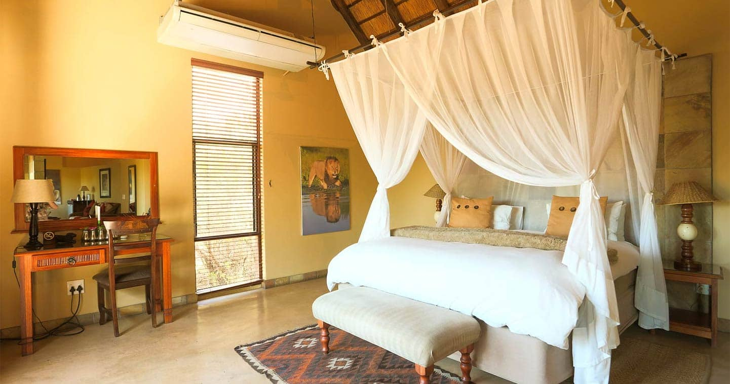 Safari accommodation in a luxury suite at Elephant Plains