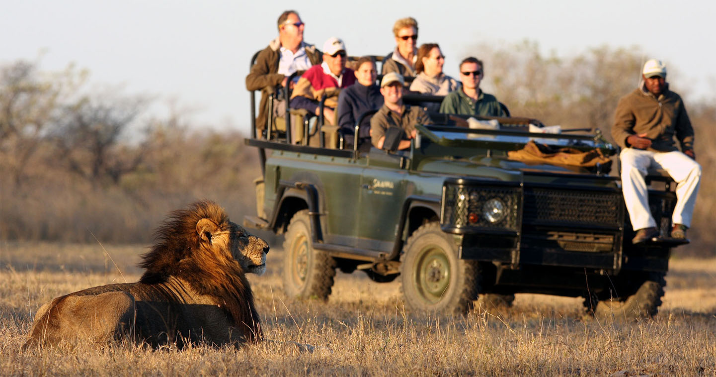 On game drive at Savanna Lodge