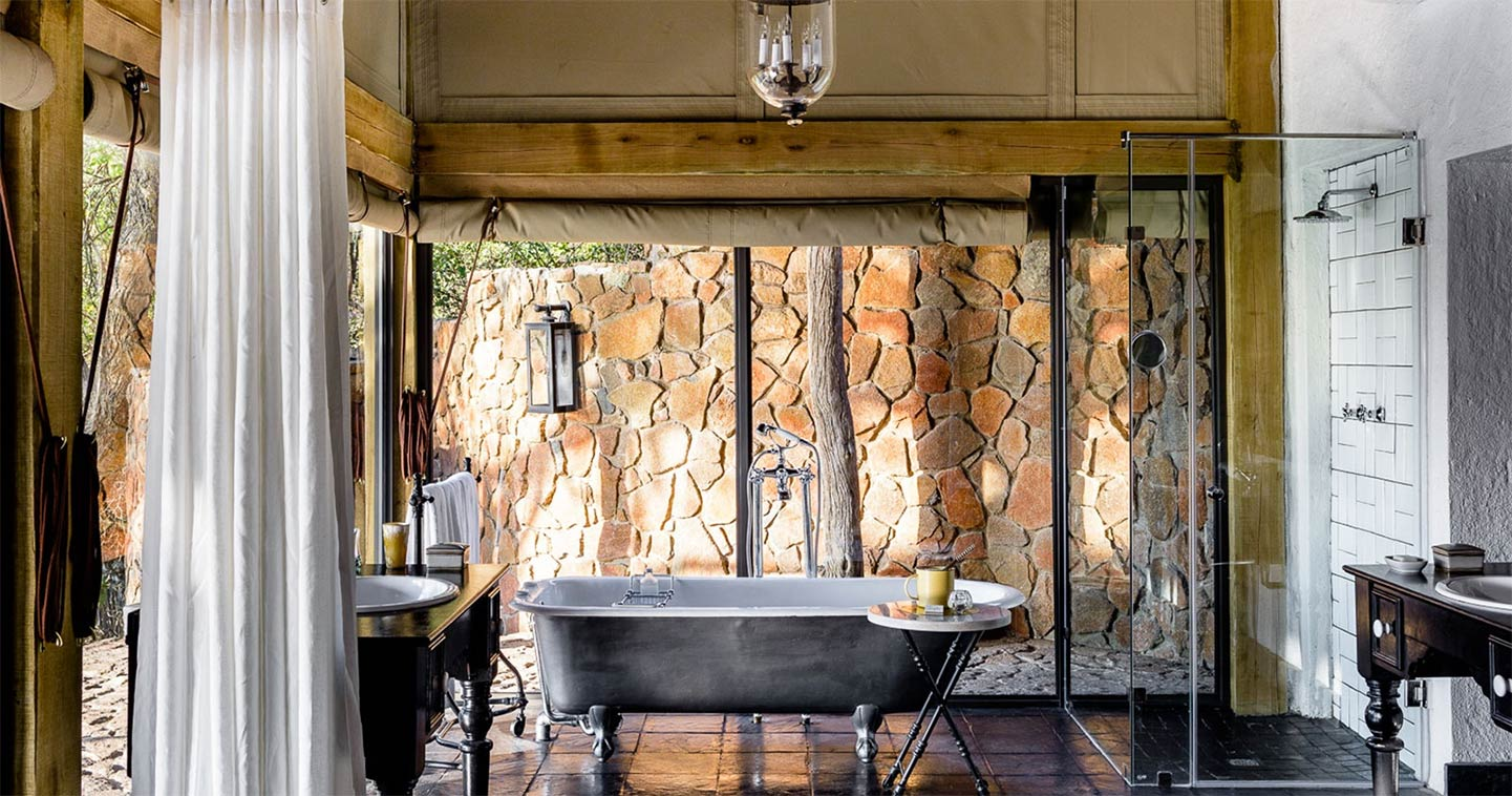 Singita Ebony Lodge bathroom in the Sabi Sands Game Reserve
