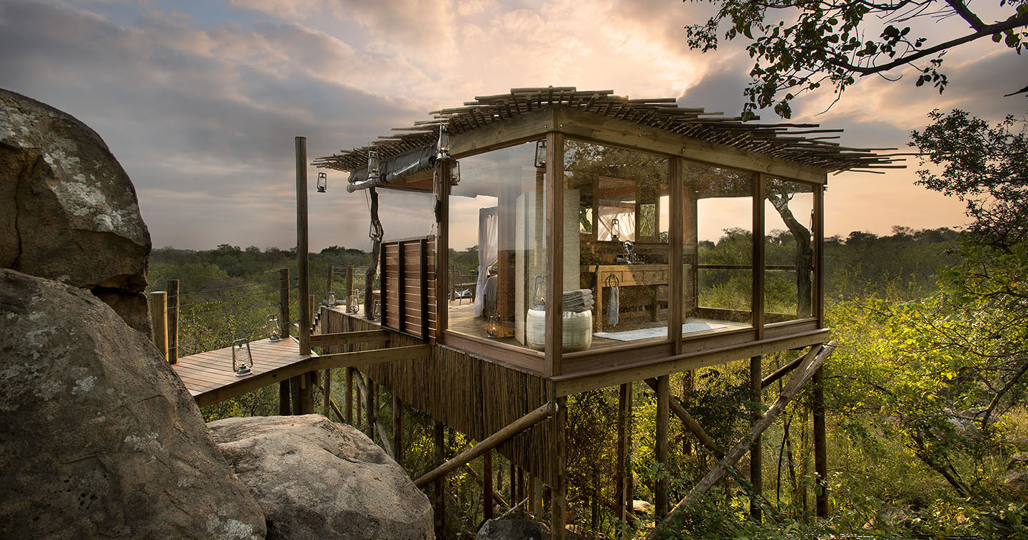 Stay in a Lion Sands tree house for the ultimate safari experience