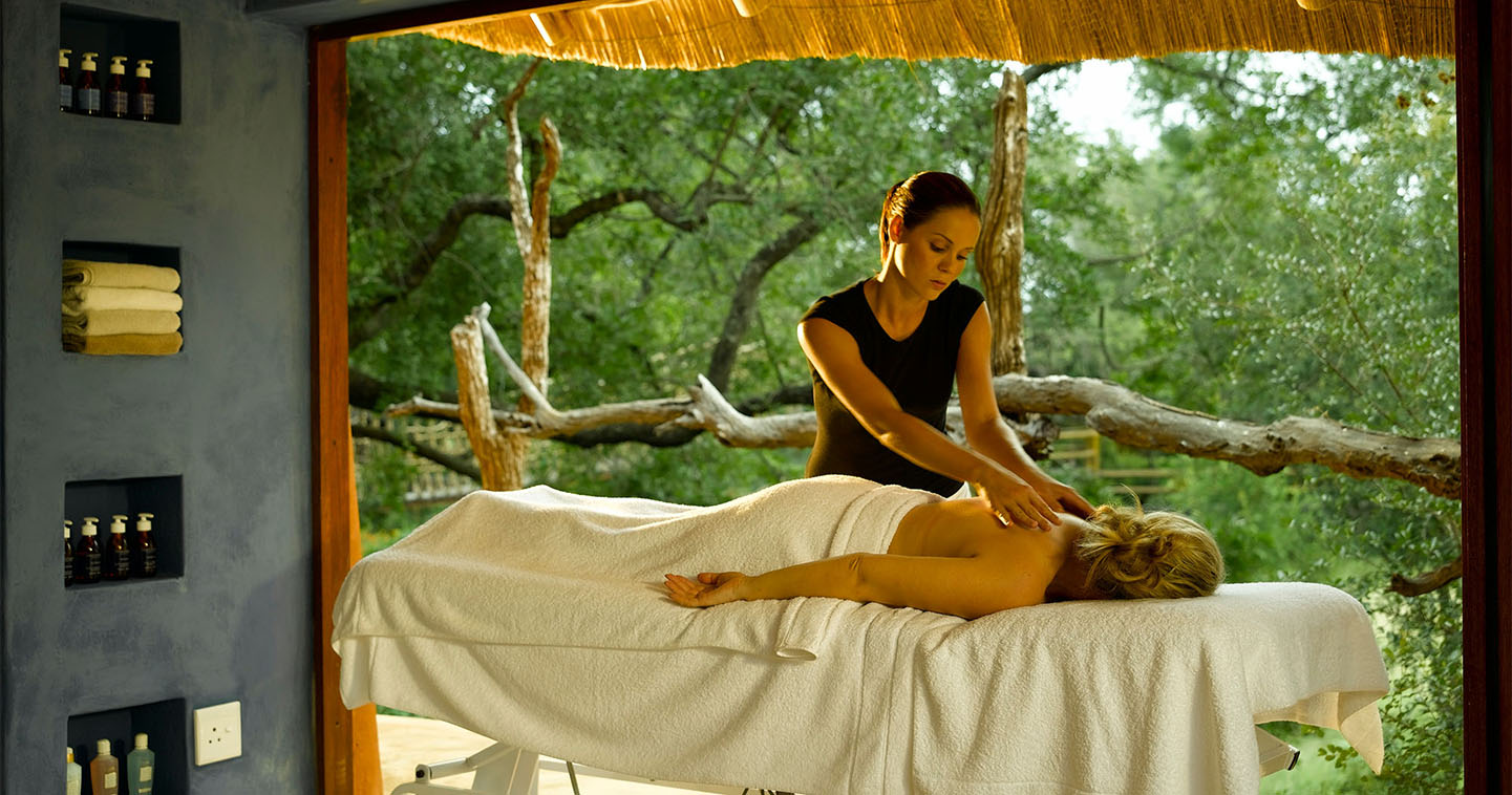 The Ulusaba Rock Lodge spa in Sabi Sands