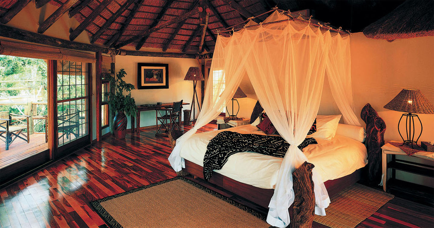 Ulusaba Safari Lodge bedroom in Sabi Sands
